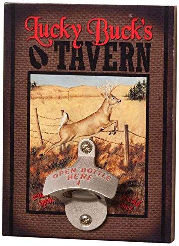 Big Sky Carvers Lucky Buck's Tavern Bottle Opener