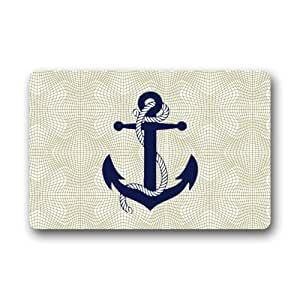 "Home Nice Anchor Clean Doormat 23.6""(L)x15.7""(W) 3/16"""