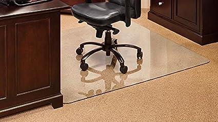 amazon com vitrazza glass office chair mat 48 x 48 chiaro