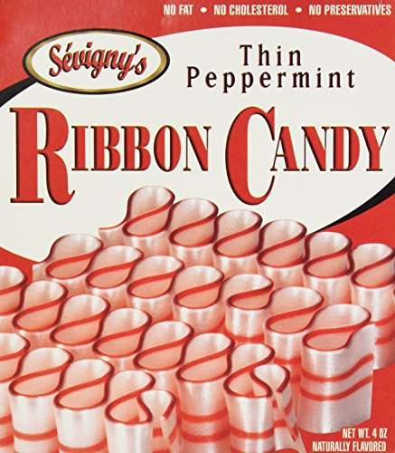 Thin Peppermint Ribbon Candy 4oz. Box by Sevigny's