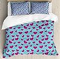 Hedda Clare Elegant Life Quilt coverPink Heart on Polka Dots Duvet Cover SetCustom Design 3 PC Duvet Cover Set