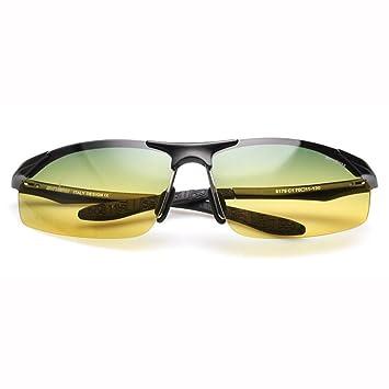 d8646b45c3 ZX Conductor Día Y Noche Uso Dual Anti Reflejante Hombres Gafas De Sol  Aleación De Al-MG Anti-UV (Color : 1): Amazon.es: Hogar
