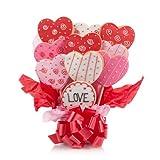 Lovely Hearts Cookie Bouquet- 9 Pc Bouquet