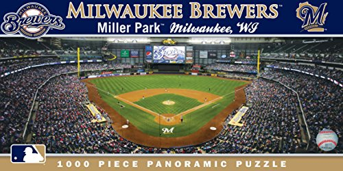MasterPieces MLB Milwaukee Brewers Stadium Panoramic Jigsaw Puzzle, 1000-Piece -