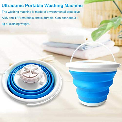 jesticam Mini Washing Machine with Foldable Tub Portable, Personal Rotating Ultrasonic Turbines Washer USB Powered, Mini Laundry Washer Machine for Camping Apartments Dorms RV Business Trip