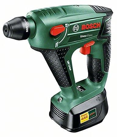 Bosch 060395230F Uneo Maxx Perforateur sans fil  technologie Syneon avec batterie/adaptateur pour forets 18 V 2, 5 Ah