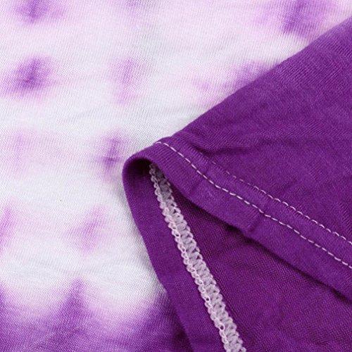 Damen VAusschnitt Kleider TPulling Frau Mode Einfarbig Bedrucktes ...