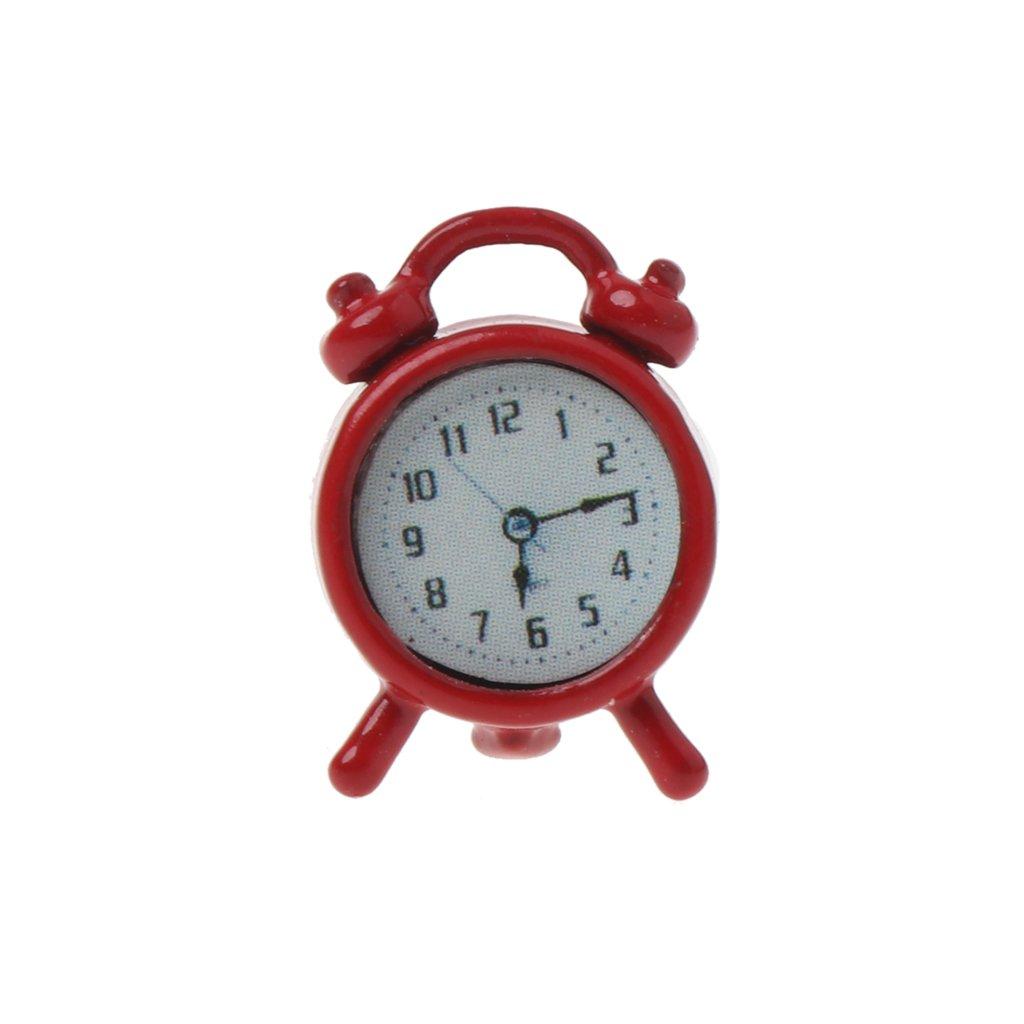 Shoresu ドールハウス 目覚まし時計 1:6/1:12スケール 目覚まし時計 ドールハウス装飾 ミニチュアおもちゃ 人形アクセサリー - A# Shoresu  C# B07KR58ZC9