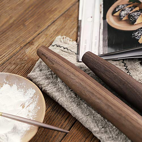 Muso Wood Wooden Rolling Pin for Baking Dowel 11-4//5 Inch