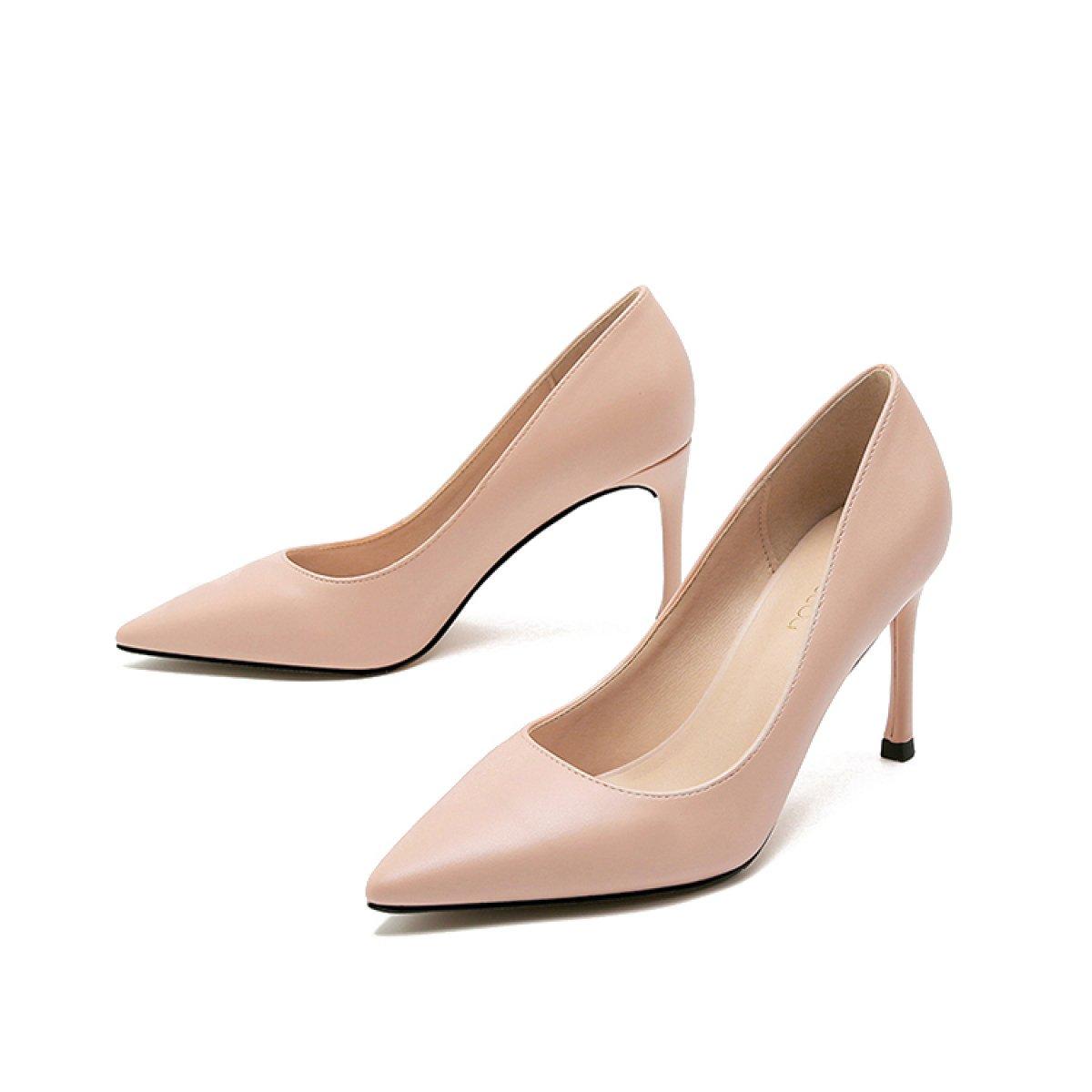 Frauen Sexy High Heels Arbeit Business Pumps Damen Elegante Spitzschuh Schuhe