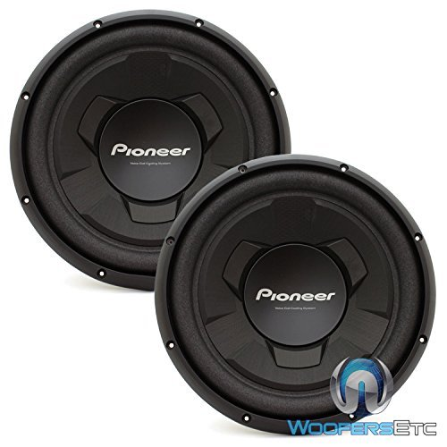 Pair of Pioneer TS-W126M 12'' 300 Watts RMS Single 4-Ohm Subwoofers