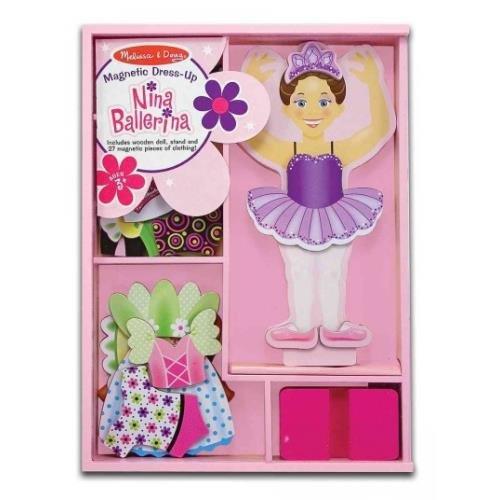 Nina Ballerina Magnetic Dress-up Magnetic Ballerina Doll