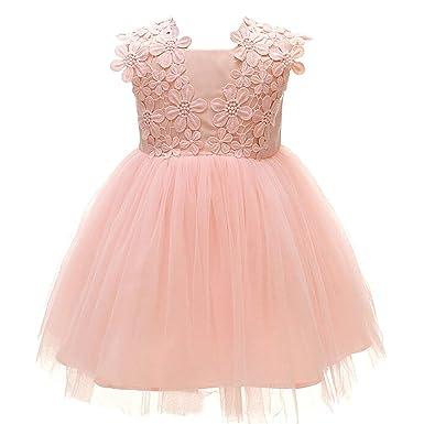 Monimo Baby M/ädchen Prinzessin Kleid Taufkleid Festlich Kleid Hochzeit Partykleid Festzug Babybekleidung