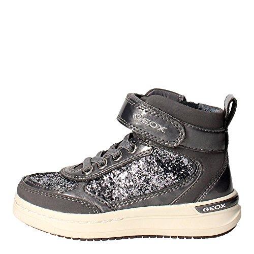 Geox Unisex - niños Zapatillas de Gimnasia gris