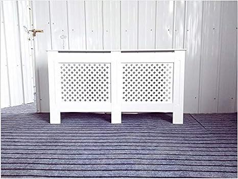 x19 Facile da Montare Stile Moderno Verniciato in Legno MDF Bianco Legno D Colore: Bianco W 82 Stile Oxford cm H Copri termosifone per la casa Design a Croce x78