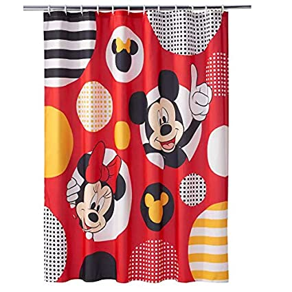 Franco Mickey Minnie Mouse Polka Dot Shower Curtain Collection