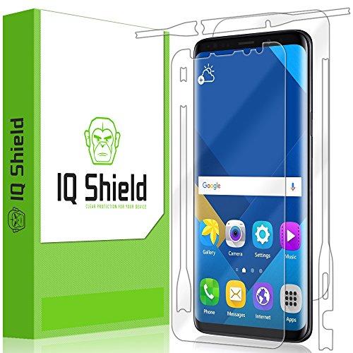 Galaxy S9 Plus Screen Protector, IQ Shield LiQuidSkin Full Body Skin + Full Coverage Screen Protector for Galaxy S9 Plus HD Clear Anti-Bubble Film