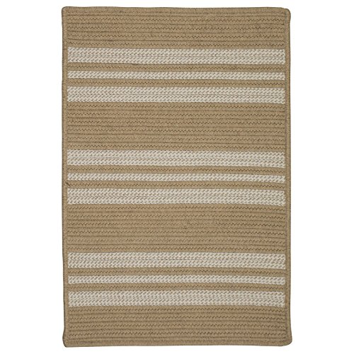 (Sunbrella Southport Stripe UH99SAMPLES Sample Swatch Rugs, 14 x 17, Wheat Beige)