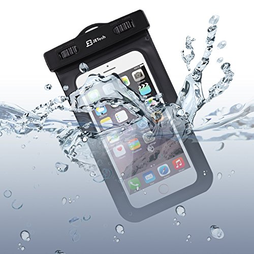 Waterproof Case, with Armband, JETech® Universal Waterproof Case Bag Pouch for iPhone 6s/6/5/4, Samsung Gaxaly Note 5/4/3/2, S6 Edge, S6, S5, S4, HTC, and other upto 6 Inch Smartphones
