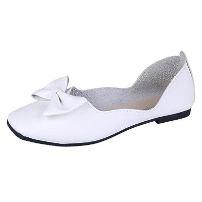 Zapatos para Mujer, ???? RETUROM 2018 Las Mujeres del Tacón bajo Bowknot Cuadrados Hebilla del Talón Zapatos de Tacón bajo Señaló Zapatos