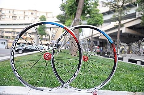gub R730 700 C 24H agujeros 4 rodamientos para bicicleta de carretera bicicleta rueda de juego de ruedas equitación ciclismo ultraligero de aluminio con ...