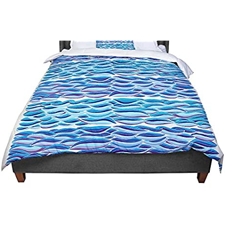 KESS InHouse Pom Graphic Design The High Sea Queen Comforter 88 X 88