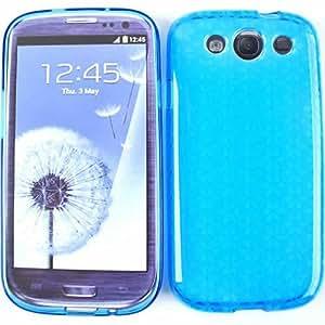 Cell Armor SAMI747-DESKIN-PU042-A010-XC Design Skin Case for Samsung Galaxy S III I747 - Retail Packaging - Transparent Dark Blue