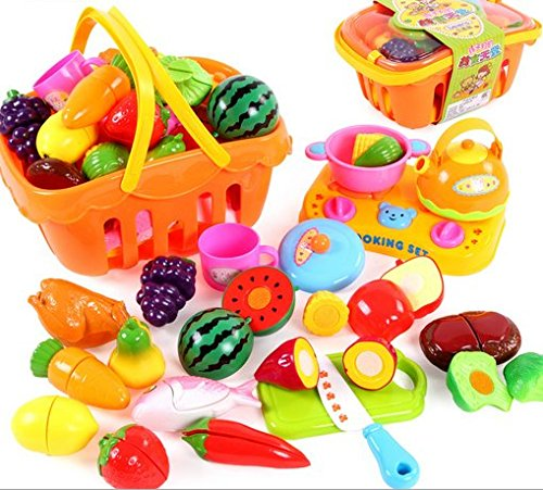 21pcs Fruits/Vegetable Play set- Plastic Cutting Velcro F...