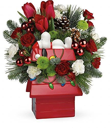 Snoopy's Christmas - Farm-Direct Fresh Flower Arrangement – Standard