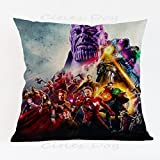17.3 X 17.3 inches Purple Avengers Superheroes Decorative Pillowcase, Blue Villain Thanos Throw Pillow Cover Ironman Dr. Strange Cushion Cover Thor Movie Character Soft Square Plain Woven, Polyester