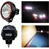 "Autolizer 4"" Build-in Xenon 55W HID 6000K Beam 4x4 Off-Road Rally Round Fog Light Lamp - Fits ATV, Truck, Boat, Driving Light, Work Light Vehicle (1 PCS)"