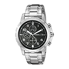 Fossil Men's FS4542 Dean Silver-Tone Stainless Steel Chronograph Watch