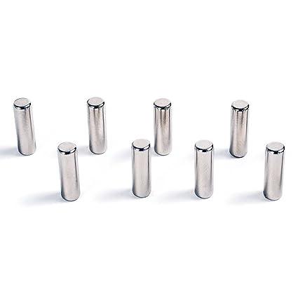 Hab & Gut -MC000-P- 8 Imanes Ultra potentes Cilindro, 8 imanes para pizarras de Cristal magnéticas, neodimio N42