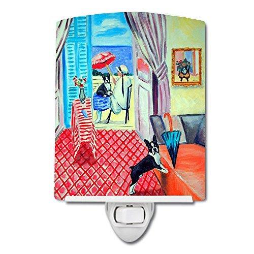 Terrier Womens Light - Caroline's Treasures Lady with Her Boston Terrier Ceramic Night Light, 6x4