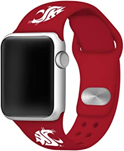 AFFINITY BANDS Washington State Silicone Sport Watch Band Compatible with Apple Watch (42mm/44mm - Crimson Red)