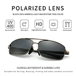 SUNGAIT Ultra Lightweight Rectangular Polarized Sunglasses Man UV400 Protection Recommended deals classic