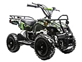 kids atv - Rosso Motors Kids ATV Kids Quad 4 Wheeler Ride On Utility with 800W 36V Battery Electric Power Lights in Army Camo Green Motorcycle for Kids, Disc Brake System and Reverse for Child Safety