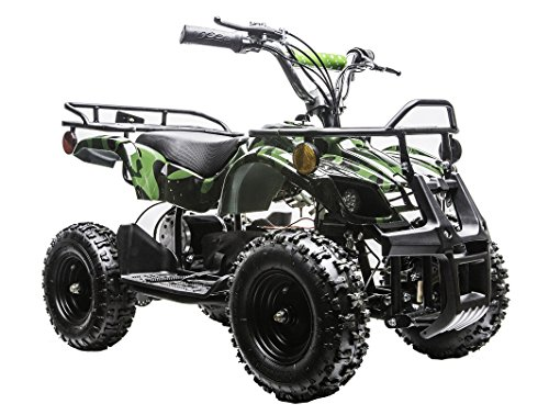 Rosso Motors Kids ATV Kids Quad 4 Wheeler Ride On Utility with...
