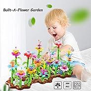 VNVDFLM Flower Garden Building Toys Plastic Set |104 Pcs Assembly Garden | Building Blocks Educational Creativ
