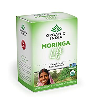 ORGANIC INDIA Moringa Powder Complex Superfood for Essential Nutrition - Abundant in Vitamins, Minerals and Amino Acids - Pure, Organic Moringa Oleifera Leaf Powder
