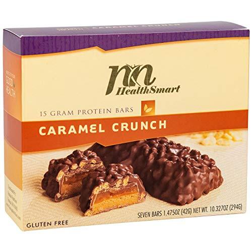HealthSmart - High Protein Diet Bar - Caramel Crunch - 15g Protein - Low Calorie - Gluten Free (7/Box)