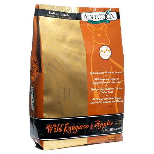Addiction Holistic Dry Dog Food – Wild Kangaroo and Apples Entree – 3 Pounds, My Pet Supplies