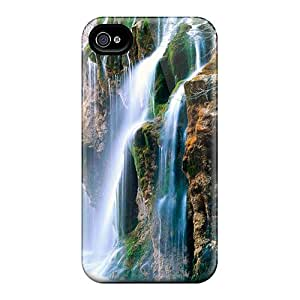 SaladCases JRh15581BAIM Case For Iphone 4/4s With Nice Mountains Waterfalls Appearance