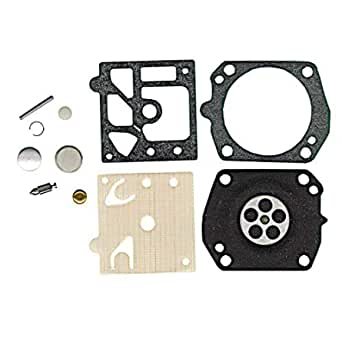 FJSa K22-HDA Carburetor Rebuild Kit Carb Gasket Diaphragm for Walbro Honda GX100 Tanaka TBC422C TEA500 ECS506 650 EHC120 TC47 Stens 615-582 Carburetor 2 Pack