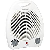 Vie Air 1500W Portable 2-Settings White Office Fan Heater with Adjustable Thermostat