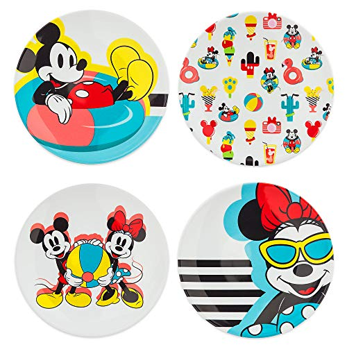 Disney Mickey and Minnie Mouse Plate Set - Disney Eats]()