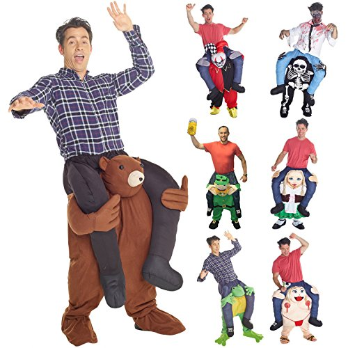 [Unisex Piggyback Teddy Piggyback Fancy Dress Costume - With Stuff Your Own Legs] (Funny Costumes)