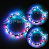 Bzone 2 Sets of Micro 50 LED Multicolor RGB Lights Battery Operated on 16ft Long Silver Color Coated Ultra Thin String Copper Wire for Room Home Garden Party Christmas Decoration