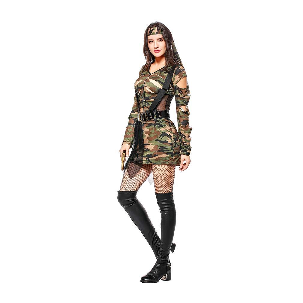 Amazon.com: YaXuan Womens Camouflage Cosplay Instructor ...