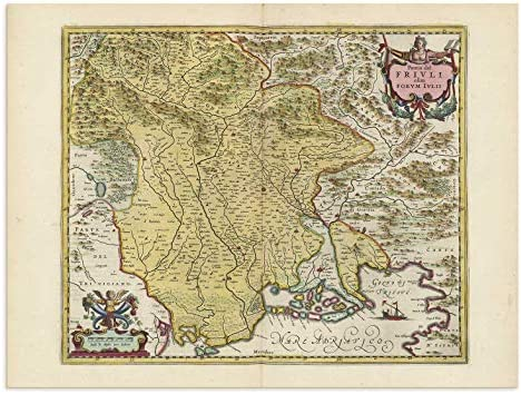 Friuli Italy Map.Amazon Com The Blaeu Prints Friuli Venezia Giulia Italy
